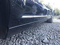 Накладка порога левая черная Long Mercedes s-class w221