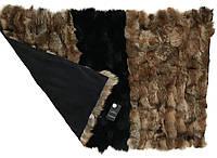 2в1 ковер и одеяло из натурального меха лисы 120*70 RO-1459