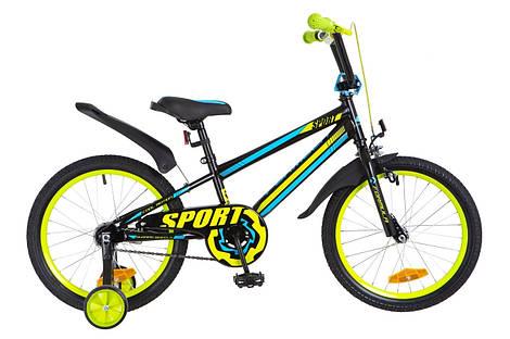 Велосипед 18 Formula SPORT 14G рама-9,5 St черно-сине-салатный с крылом Pl 2018