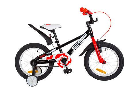 Велосипед 16 Formula JEEP  14G    рама-8,5 St черно-красный  с крылом Pl 2018