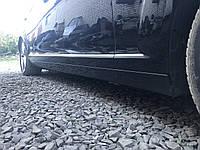 Накладка порога правая черная Long Mercedes s-class w221