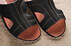 Кожаные шлепанцы кожаные Clarks темно-синего цвета, фото 7