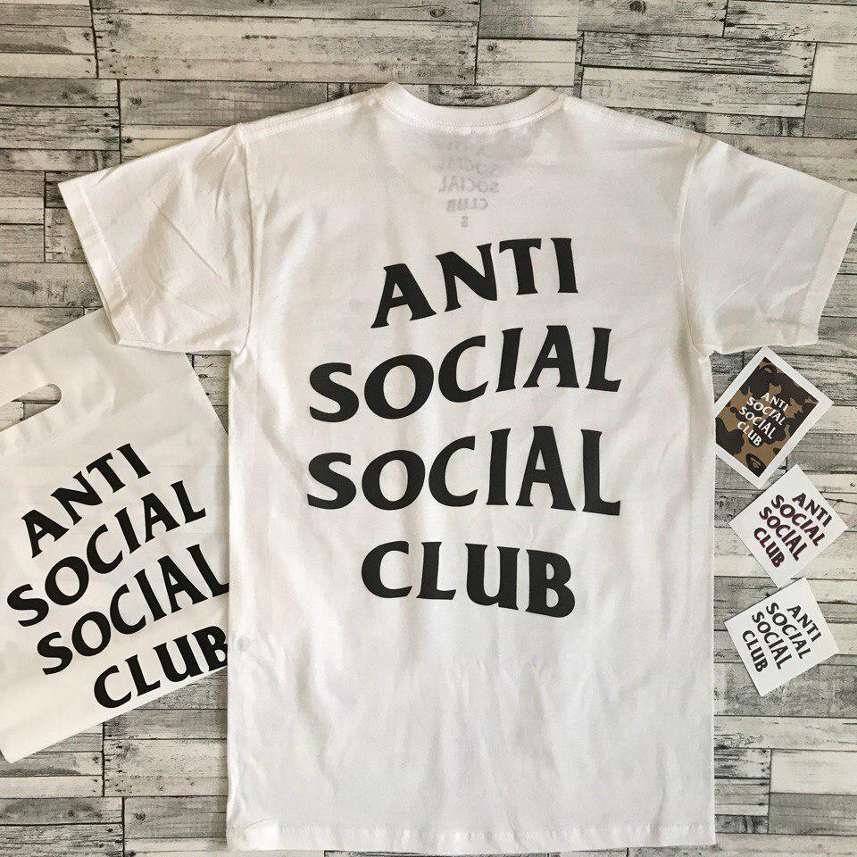 Футболка мужская Anti Social social club Белая АССЦ| Качественная реплика