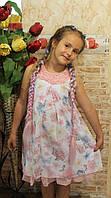 """Нарядное платье сарафан на девочку """"Розы и бабочки"""""""