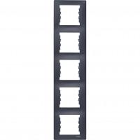SDN5801570 Рамка на 5 постів вертикальна, графіт Schneider Electric Sedna