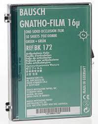 Оклюзійна плівка Bausch Gnatho-Film ВК172 16µm (50 листів 70х100мм одностороння), фото 2