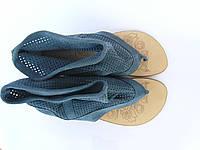 Женские кожаные босоножки Punto Bella 1140син
