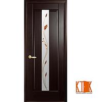 Межкомнатные двери Новый Стиль Премьера с рисунком Р1 венге