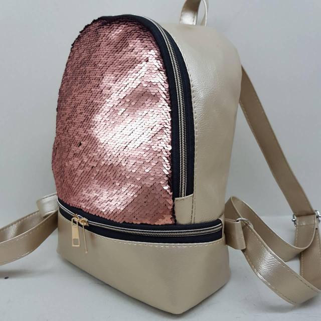 a6b547175fb12b Модный стильный женский рюкзак с паетками из эко кожи цвет : продажа ...