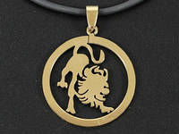 "Кулон знак зодиака ""Лев"" (золотой цвет), фото 1"