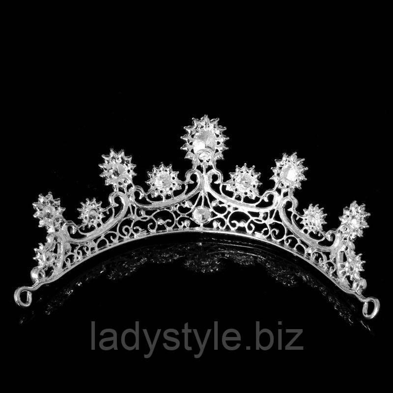 """Элегантная серебристая диадема  """"Карбункул"""" от студии LadyStyle.Biz"""