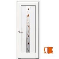 Межкомнатные двери Новый Стиль Премьера с рисунком Р1 белый