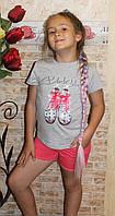 """Летний костюм для девочки подростка """"Ботиночки"""", фото 1"""