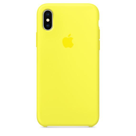 Чехол-накладка ARS для Apple iPhone X Silicone Case Yellow