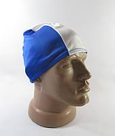 Шапка спортивная, легкая, polyester (55-58 см), сине-белая, Отл сост!