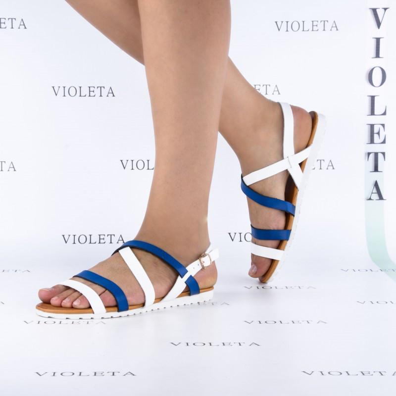 Супер ціна 37р і 38р Шкіряні (екошкіра) босоніжки, сандалі пр. Туреччина (білі і сині палітурки)