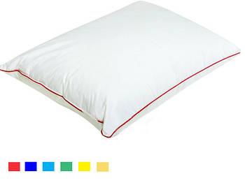 Подушка прямокутник кант бордовий