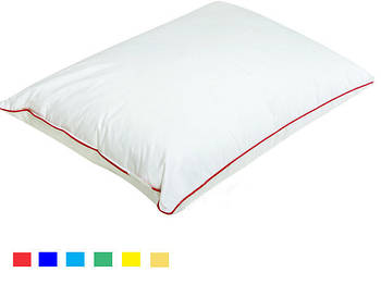 Подушка прямокутник кант зелений
