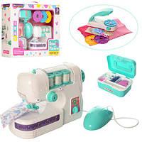 Швейная машинка детская 829C, 20см, шьет, педаль упр, свет, пресс для заклепок, на батарейке, в коробке, 40-2
