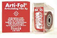Артикуляційна фольга Bausch Arti-Fol  ВК25 8µm (20м х 22мм двостороння), фото 2