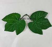 Искусственный лист смородины-1 розетка=2листа (листья зеленые ), фото 1