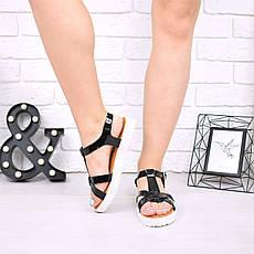 """Босоножки, сандалии, сабо, балетки черные """"Trinity"""" эко лак, ровный ход, повседневная, летняя женская обувь, фото 2"""