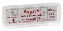 Фольга Bausch Arti-Fol metallic червона ВК35 12µm (100 листів: 8х60мм одностороння)