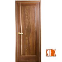 Межкомнатные двери Новый Стиль Волна ПГ золотая ольха гравировка