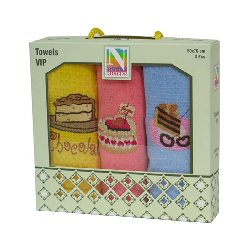 Набор кухонных полотенец Niltex Cake 30*50 махра