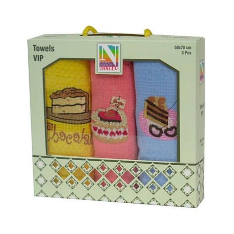 Набор кухонных полотенец Niltex Cake 30*50 махра, фото 2