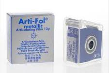 Фольга Bausch Arti-Fol metallic Shimstock ВК33 12µm (20м х 22мм одностороння)