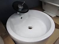 Умывальник накладной Deante круглый керамический 48х48х14, фото 1