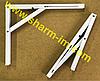 Механизм откидного стола 300х400 мм Белый - (Польша 100 кг) Цена за Пару