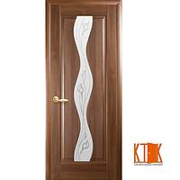 Межкомнатные двери Новый Стиль Волна Р2 золотая ольха