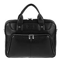 Портфель Karya 0655-45 кожаный черный мужской