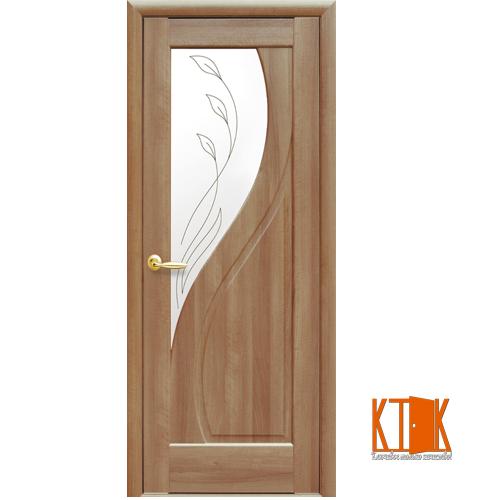Міжкімнатні двері Новий Стиль Прима Р2 золота вільха