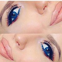 Синие линзы для темных глаз 1