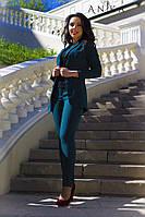 Костюм женский пиджак и брюки ботал  дав116, фото 1