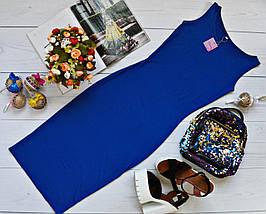 Летнее легкое платье-майка Вискоза Черное, фото 3