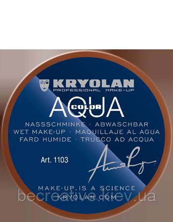 Коричневый аквагрим AQUACOLOR 55мл(оттенок LE)