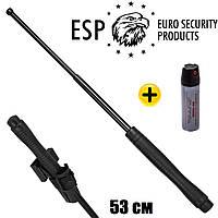 """Телескопическая дубинка ESP 21"""" ⭐⭐⭐⭐⭐ Эргономическая ручка - EXB-21HE BLK (BH-34) (Закаленная сталь)"""