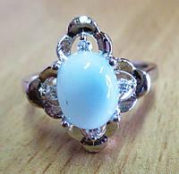 "Серебряное кольцо с  ларимаром  ""Клевер"", размер 17,7, фото 1"