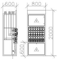 Панель распределительная ЩО-70 (ЩО-90) c блок-рубильниками типа ARS