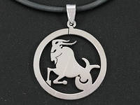 "Кулон знак зодиака ""Козерог"" (серебряный цвет)"