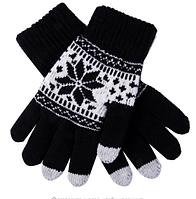 Мужские перчатки для сенсорных экранов Touch Gloves Черные (TGM01)