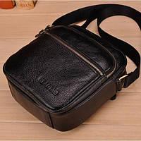 Мужская маленькая сумка из натуральной кожи, фото 1