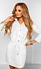 Платье женское Цвет молочный Ткань костюмный креп Сезон Осень 2016 Размеры 42-44, 44-46
