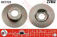 Диск тормозной ВАЗ 2101 передний (TRW). DF1723