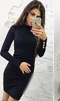 Платье женское Ткань экокожа Сезон Зима 2017 Размеры 42, 44, 46    , фото 1