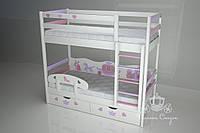 """Кровать двухъярусная детская """"Золушка"""" Pink, фото 1"""